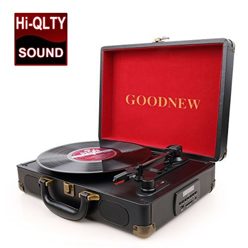 GOODNEW vinyl record player Turntable, Built in Speakers, Su
