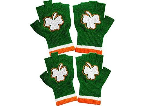 St. Patrick's Day Fingerless Shamrock Gloves (2 Pairs)