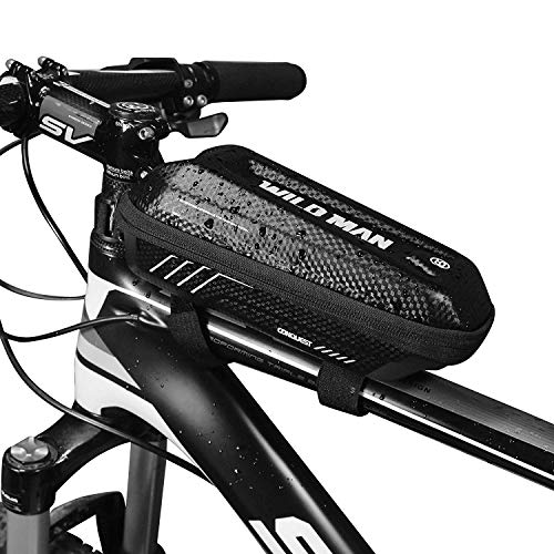 DEALPEAK Waterproof Bike Top Tube Bag Bicycle Front Tube Frame Bag Handlebar Storage Bag Stable and Secure Cycling Accessories Pouch Phone Bag