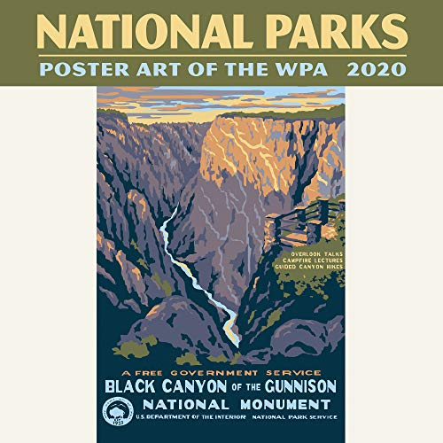 National Parks Poster Art of the WPA Mini Wall Calendar 2020 Monthly January-December 7