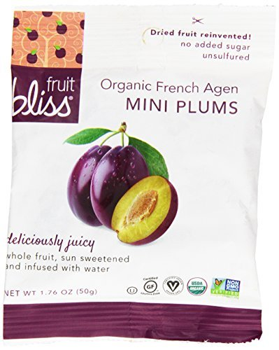 Fruit Bliss Organic Dried Mini Plums, 1.76 Ounce - 12 per case.