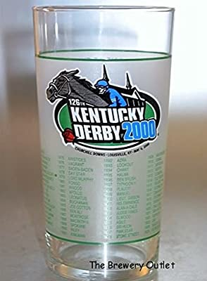 Kentucky Derby Official 126th Julep Derby Glass 2000 -- Churchill Downs