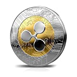 Ripple Coins,SHZONS 2 PCS Commemorative Round Collectors Coin XRP Physical Coins,Digital Blockchain Crypto Currency,Funny Gift for Boy,Girl,Woman,Man