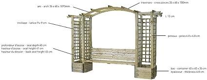 Pergola banco en arco madera Florencia: Amazon.es: Bricolaje y ...