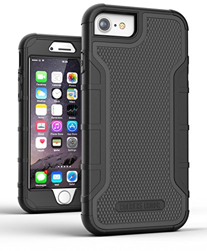 iPhone 8 Tough Case w/Built in Screen Protector, American Armor² (Heavy Duty) Rugged Hybrid Case for Apple iPhone8 4.7
