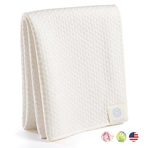 Organic Bamboo Cotton Towel Soft Luxury Care for Sensitive Skin & Natural Hair Dry 15X35 Eco Protection For Travel Gym Yoga & Daily Face Wash Extra Absorbent Cleans Eyes Fiber Free Made in USA (Bamboo Travel Towel)