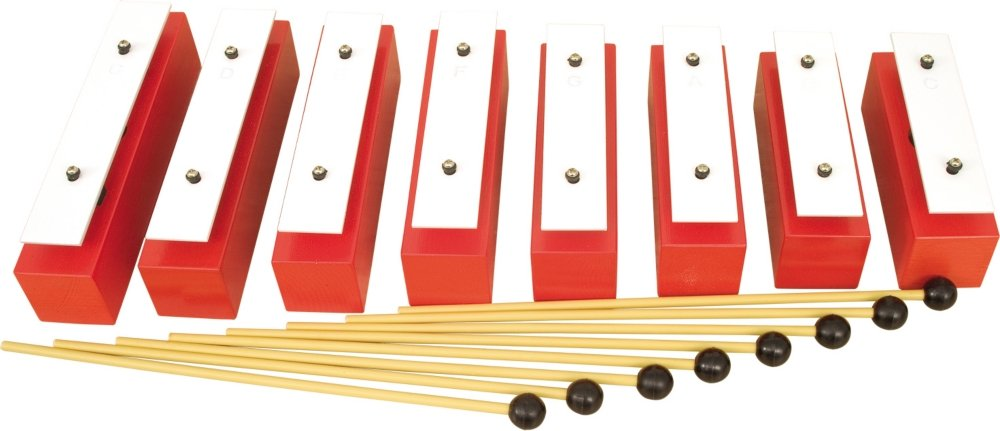 Rhythm Band 8 Note Diatonic Wooden Resonator Bell Set by Rhythm Band