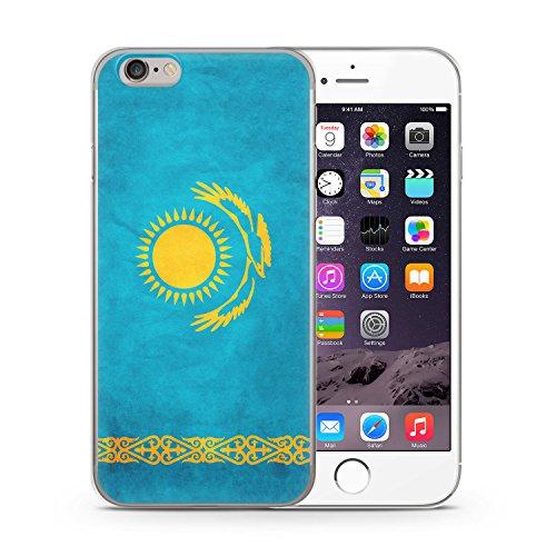 Kasachstan Kazakhstan iPhone 6 & 6S SLIM Hardcase Hülle Cover Case Schutz Schale Flagge Flag