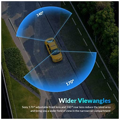 Mirror Dash Cam for Cars Front and Rear【GPS Included】, DMYCO 10″ 2.5K Dual Lens Car Camera Rear View Mirror Camera with External GPS, Super Night Vision, Sony Sensor, Parking Assistance Car and Vehicle Electronics