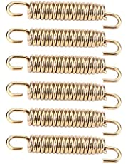 Exhaust Pipe Springs Hooks,Exhaust Springs Universal Motorcycle Exhaust Springs Puller Muffler Hooks for Motorcycle Motorbike Gold Stainless Exhaust Pipe Hooks