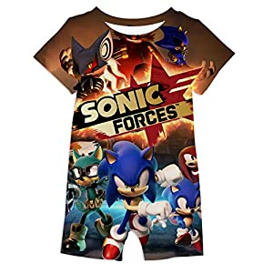 973 So-nic-Hedg-ehog 3D Print Baby Suit Onesies Infant Short Sleeve Climbing for Toddler