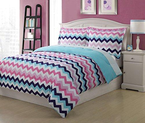 Full Microfiber Chevron Bedding Comforter