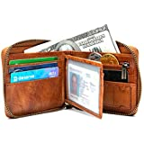 RFID Blocking Leather Wallets For Men, Black