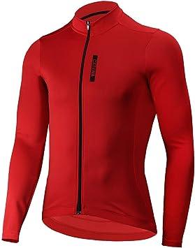 CATENA Maillot de Ciclismo Hombre Camiseta Manga Larga Jersey Ropa ...