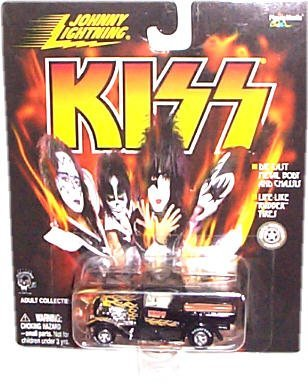 Johnny Lightning - KISS - 1929 Ford Model A Truck (Black Color w/Flame Graphics)