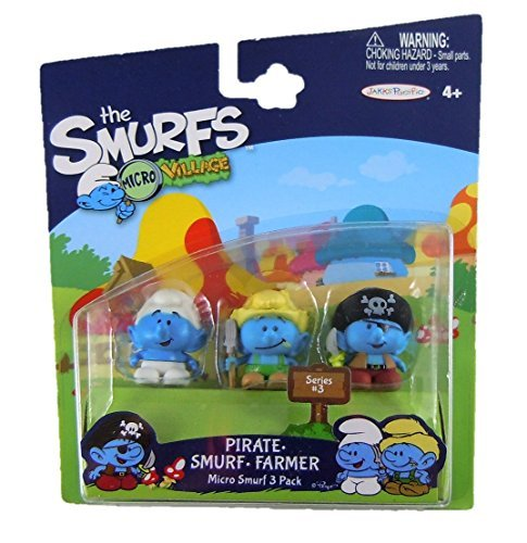 r & Standard Smurf Micro Figure (3 Pack) ()