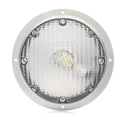 (Lumitronics RV LED Surface Mount Porch Scare Light with Mounting Gasket)