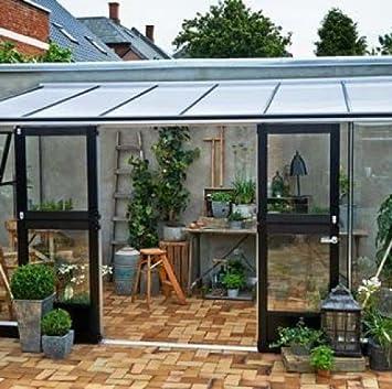 Invernadero de vidrio templado Véranda de 12, 9 m²: Amazon.es: Jardín