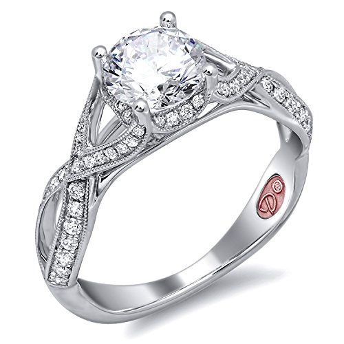 Tacori Brilliant Ring (Demarco Love Token Collection DW6141 18 Kt White Gold Ring w/ 0.34 Carats of Round Brilliant Cut Diamonds)
