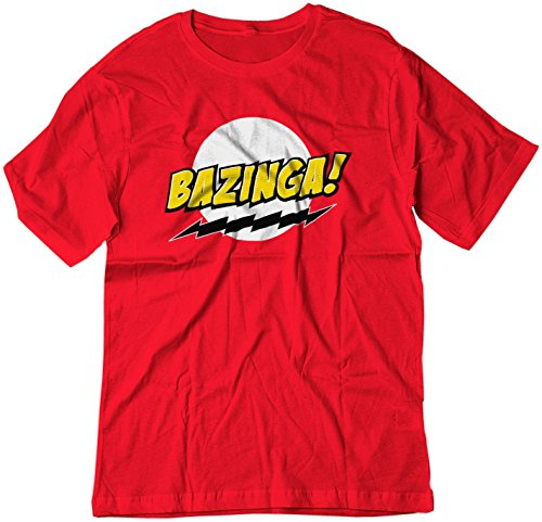 BSW Youth Bazinga! Big Bang Theory Sheldon Cooper Shirt MED Red (Cooper Youth T-shirt)