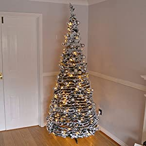 7ft Large Quick Pop Up Christmas Tree Pre Decorated with ...