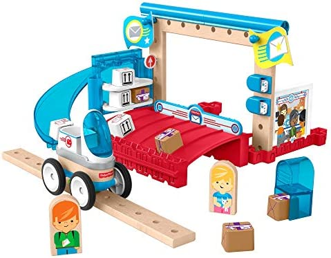 Fisher-Price Wonder Makers Design System Special Delivery Depot - 35+ Piece Building and Wooden Track Play Set for Ages 3 Years & Up
