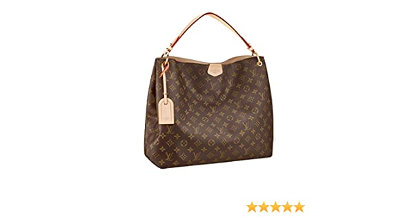 Amazon.com  Louis Vuitton Monogram Canvas Graceful MM Beige Article M43704  Made in France  Clothing 7443b6434f692