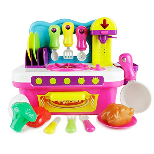 Boley My First Kitchen Playset - Boys and Girls Beginner Play Kitchen Set for Toddlers and Children - Includes Oven, Plates, Utensils, and More!