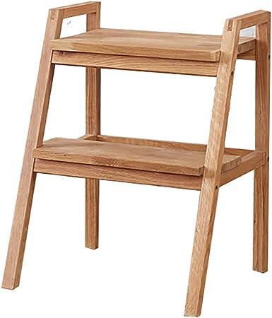 Reposapiés Taburete con escalera Escalera de madera 2 peldaños Escalera ligera, pequeños taburetes Taburete con peldaños de madera para adultos y niños Escalera de interior Banco de zapatos portátil: Amazon.es: Hogar