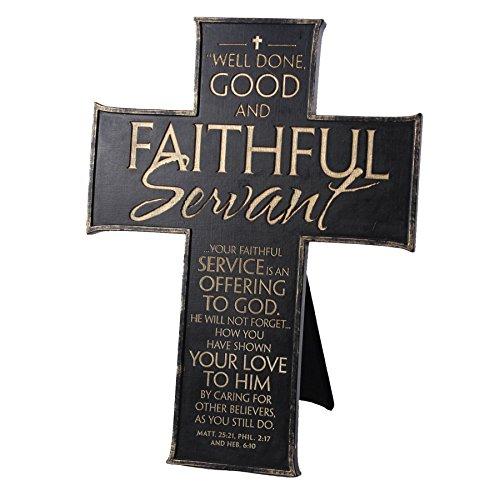Lighthouse-Christian-Products-Faithful-Servant-WallDesktop-Cross-10-x-7-34-Black