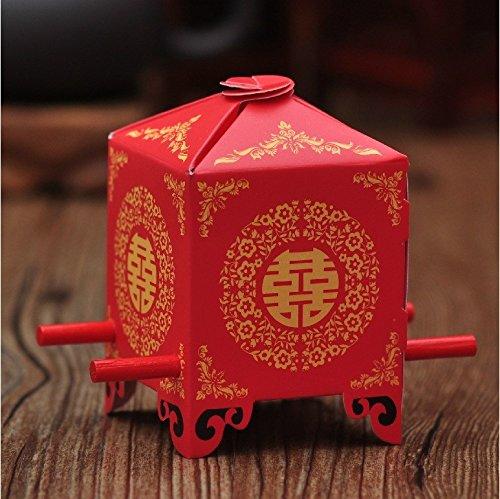 200pcs Bride Sedan Chair Chinese Wedding Favor Boxes Gift Box