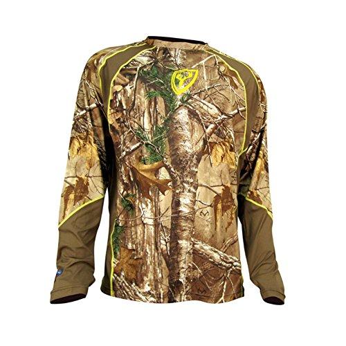 Scent Blocker 1.5 Performance Long Sleeve Shirt, Real Tree Xtra, Medium