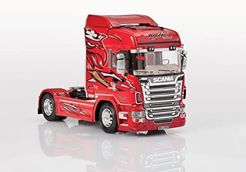 SCANIA R560 V8 RED GRIFFIN KIT 1:24 Italeri Kit Camion modello modellino die cast