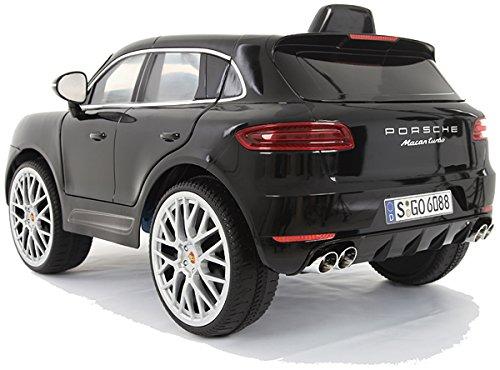 CROOZA - PORSCHE Porsche Macan Turbo muchos LED efectos Soft Start Niño Infantil para coche vehículo niños elektroauto Negro o Blanco: Amazon.es: Juguetes y ...