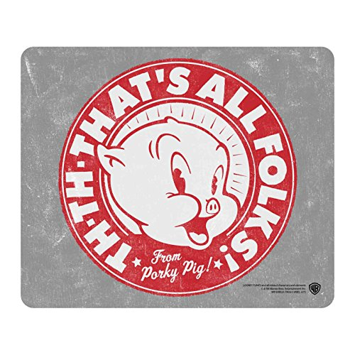 Looney Tunes Mouse Mat Pad Porky Pig Thats All Folks Official