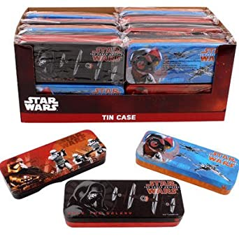 Amazon.com: Star Wars Estuche Caja de lata en 3 Estilos ...