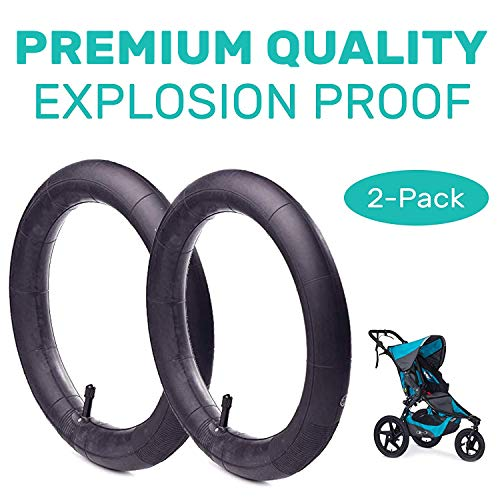 (16'' x 1.75/2.15 Back Wheel Replacement Inner Tubes (2-Pack) for BoB Revolution SE/Pro/Flex/SU/Ironman - Made from BPA/Latex Free Premium Quality Butyl Rubber)