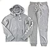 Aeropostale Women's Hoodie and Sweat Pants Set Light Gray Small