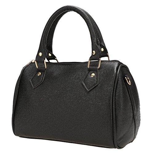 Tote Bags - All4you donne PU cuoio Borsa Tote leggero lavoro Casual Borsa (nero)