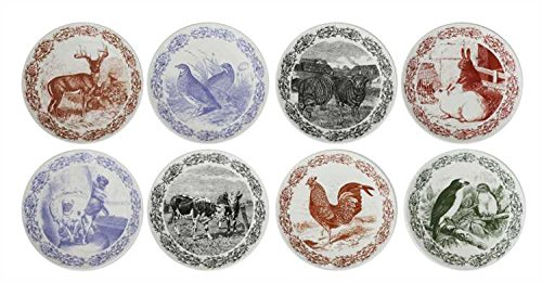 Vintage Farm Transferware Stoneware Plates - Set of 8 by Heart of America