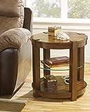 Ashley Furniture Signature Design Lobink Round End Table, Brown
