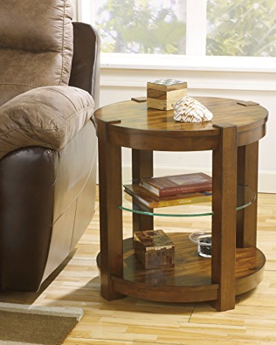 Ashley Furniture Signature Design Lobink Round End Table, Brown