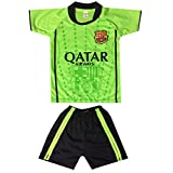 Kids FC Barcelona Jersey/Shorts Soccer Football Lime Green
