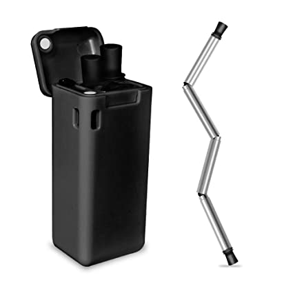 Amazon com: Collapsible Reusable Straw,Keeptop Stainless
