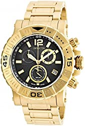 Invicta Men's 'Reserve' Swiss Quartz Stainless Steel Automatic Watch, Color:Gold-Toned (Model: 19693)