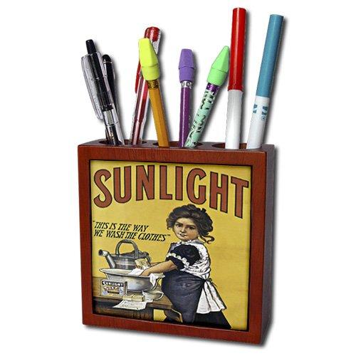 ph_130016_1 BLN Vintage Assorted Advertising Posters - Vintage Sunlight Laundry Soap Advertising Poster - Tile Pen Holders-5 inch tile pen holder