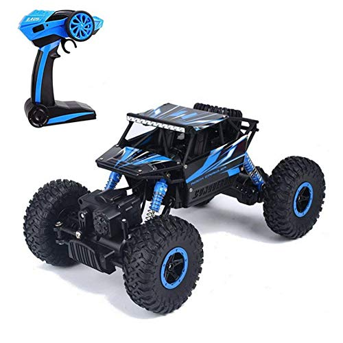 Tuptoel Toys for Boys Off-Road RC Cars 1:18 Scale Mouster Car 2.4Ghz 4WD High Speed Racing Cars, Rock Crawler Truck-Blue, Electric Cars for -