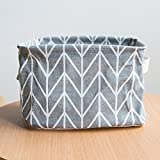 LtrottedJ Foldable Colors Storage Bin Closet Toy Box,Container Organizer Fabric Basket (Gray)