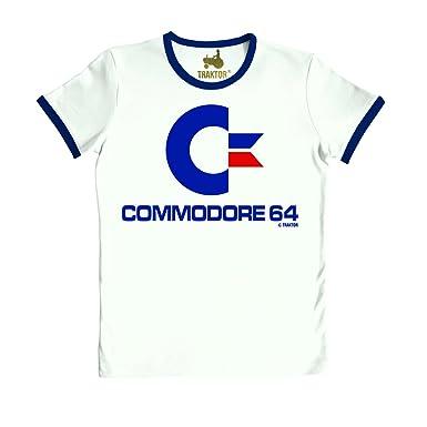 Traktor® - Slimfit T-Shirt Commodore C64 - Short Sleeve Tee Nerd