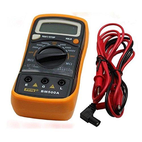 Megohmmeter Insulation Tester (Qisc BM500A Digital Insulation Resistance Megger 1000V 1999M Tester Meter Megohmmeter Tool )